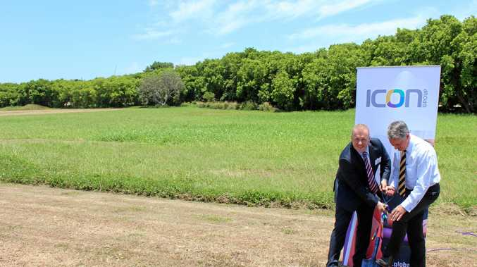 Icon Group CEO Mark Middleton and Mackay Regional Council mayor Greg Williamson are committed to building a new cancer treatment centre in Mount Pleasant.