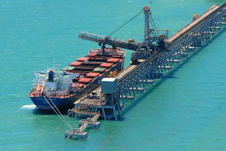 Coal Loading at Hay Point.  Photo Lee Constable / Daily Mercury