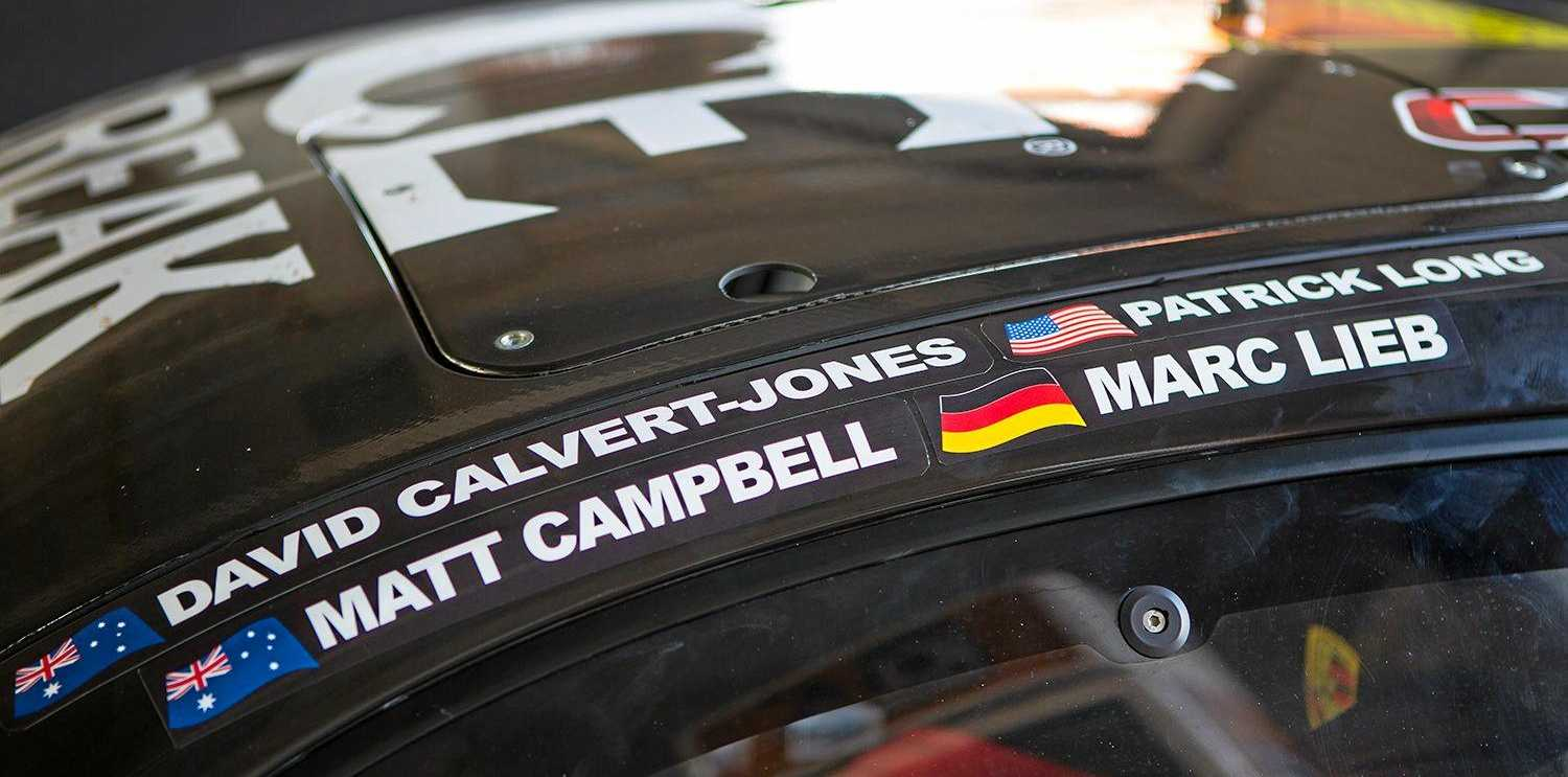 Warwick driver Matt Campbell is in the Competition Motorsports Ice Break Porsche GT3R with co-drivers David Calvert-Jones, Patrick Long and Marc Lieb in the Liqui-Moly Bathurst 12 Hour race.