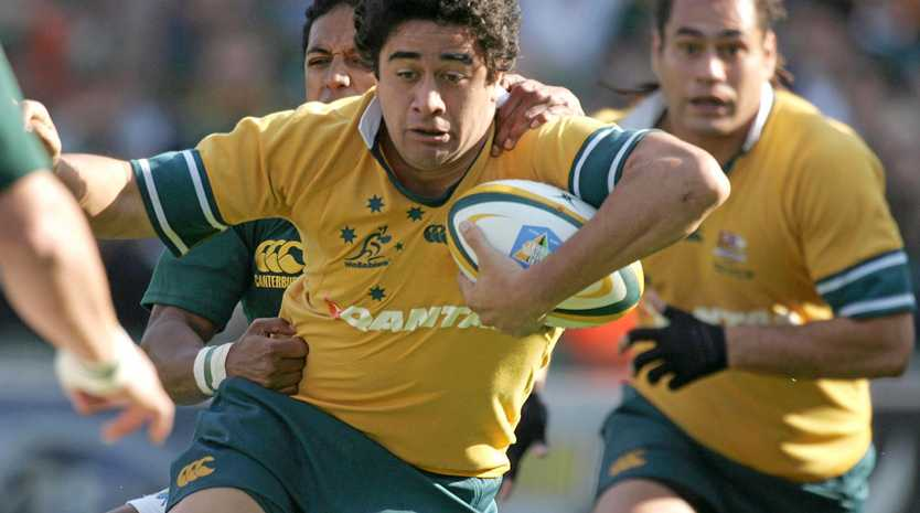 Morgan Turinui on the charge for Wallabies in 2005.