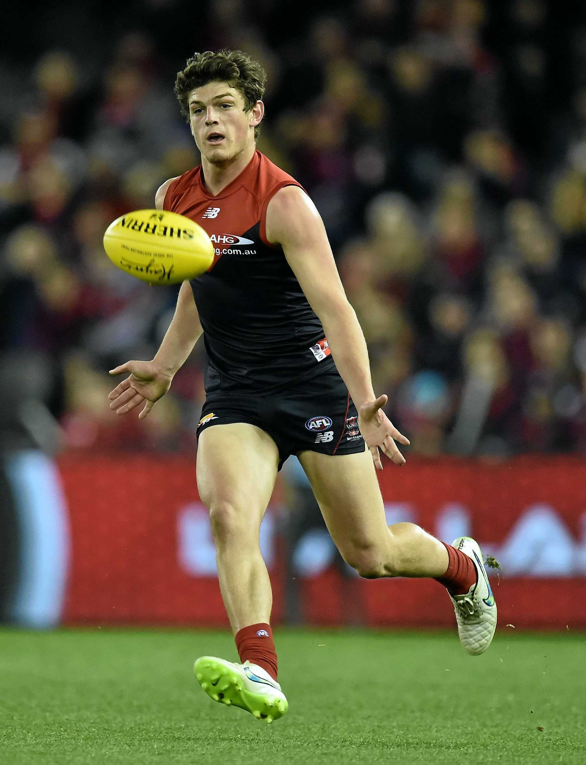 MIDFIELDER: Melbourne Demons player Angus Brayshaw in action.