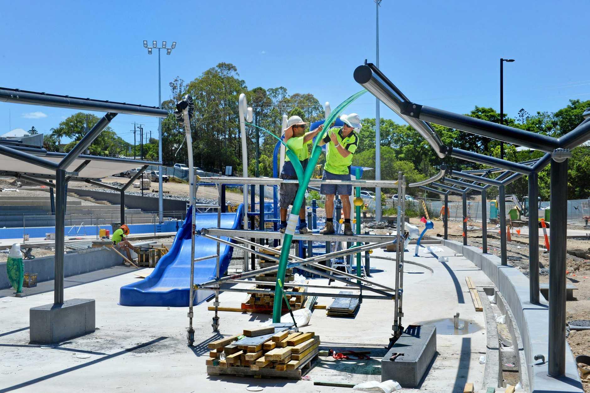 Gympie Aquatic centre under construction.