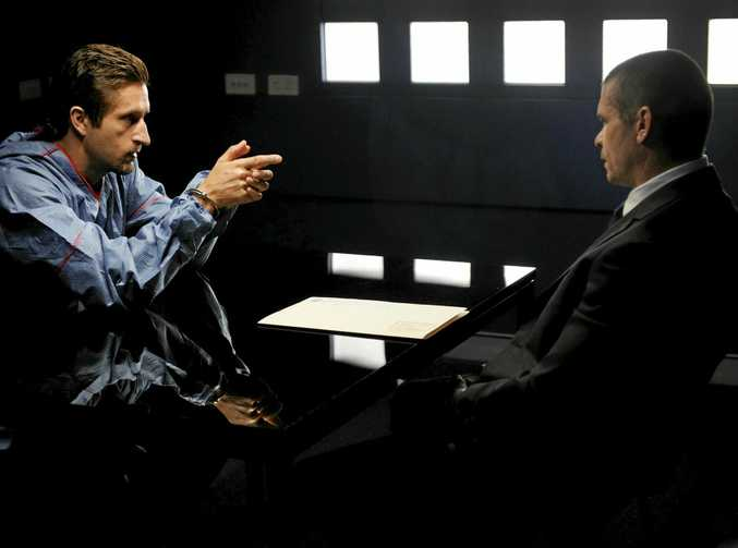 UNDERWORLD RUMOURS: Jonathon LaPaglia, left, and Matthew Nable in a scene from the TV series Underbelly: Badness. Talk of underworld identity Mick Gatto moving to Buderim has so far proven unfounded.