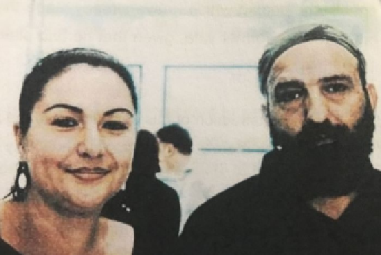 Amirah Droudis and Man Monis days before she carried out the frenzied stabbing murder of his first wife, whom he lured to his apartment during a child access visit.