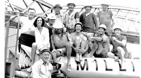 Millaquin Mill's team at the Harvest Festival Raft Race, September 30, 1978. Photo submitted by Bundaberg Sugar