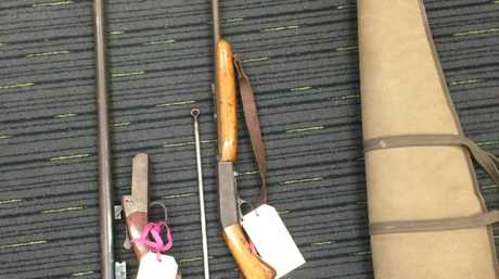 Guns seized from Strike Force Stanlea carried out by Coffs Clarence Local Area Command.