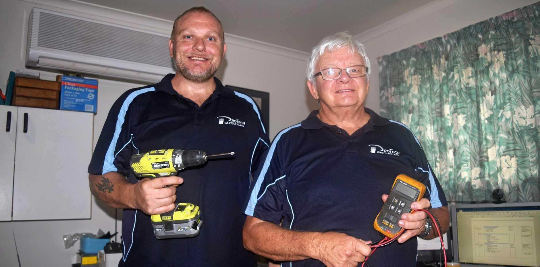 CUSTOMER SERVICE: Paul Ellis and Paul Richardson from ProTech Whitsundays.