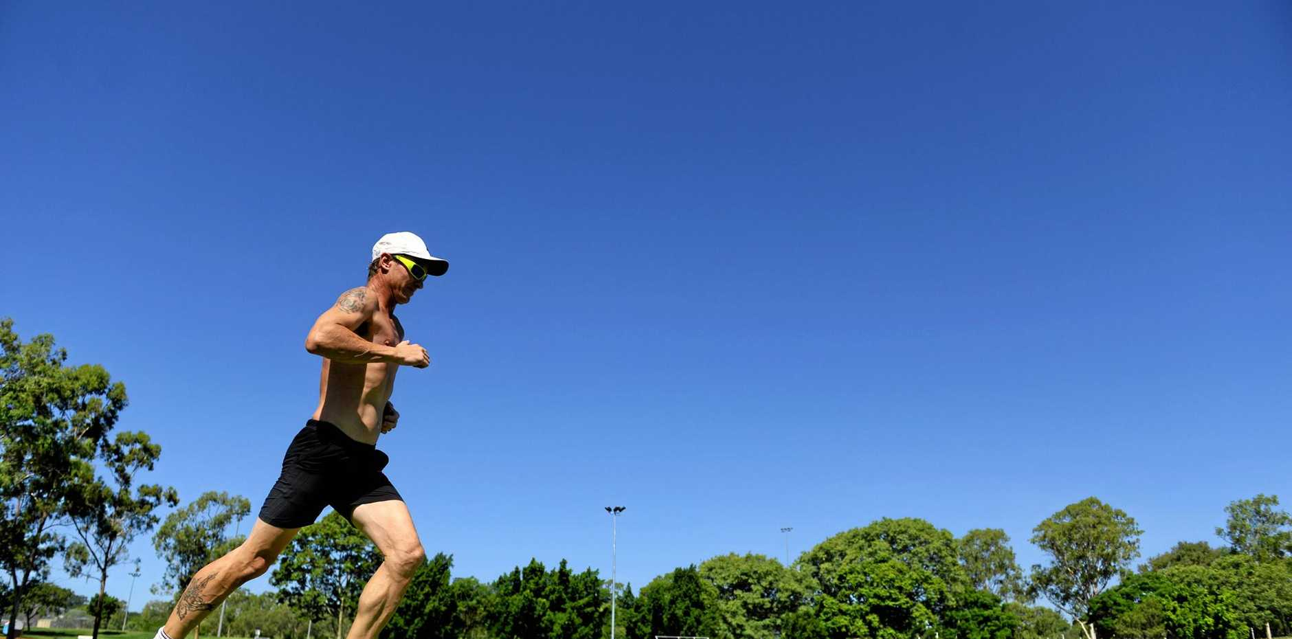 FOR THE KIDS: Mathew 'Coxy' Cox is running from Perth to Ipswich to raise money for the Ipswich Hospital Foundation, Children's Sunshine Ward.