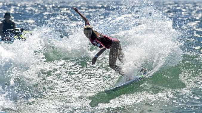 Macy Callaghan during Round two of the Tweed Coast Pro