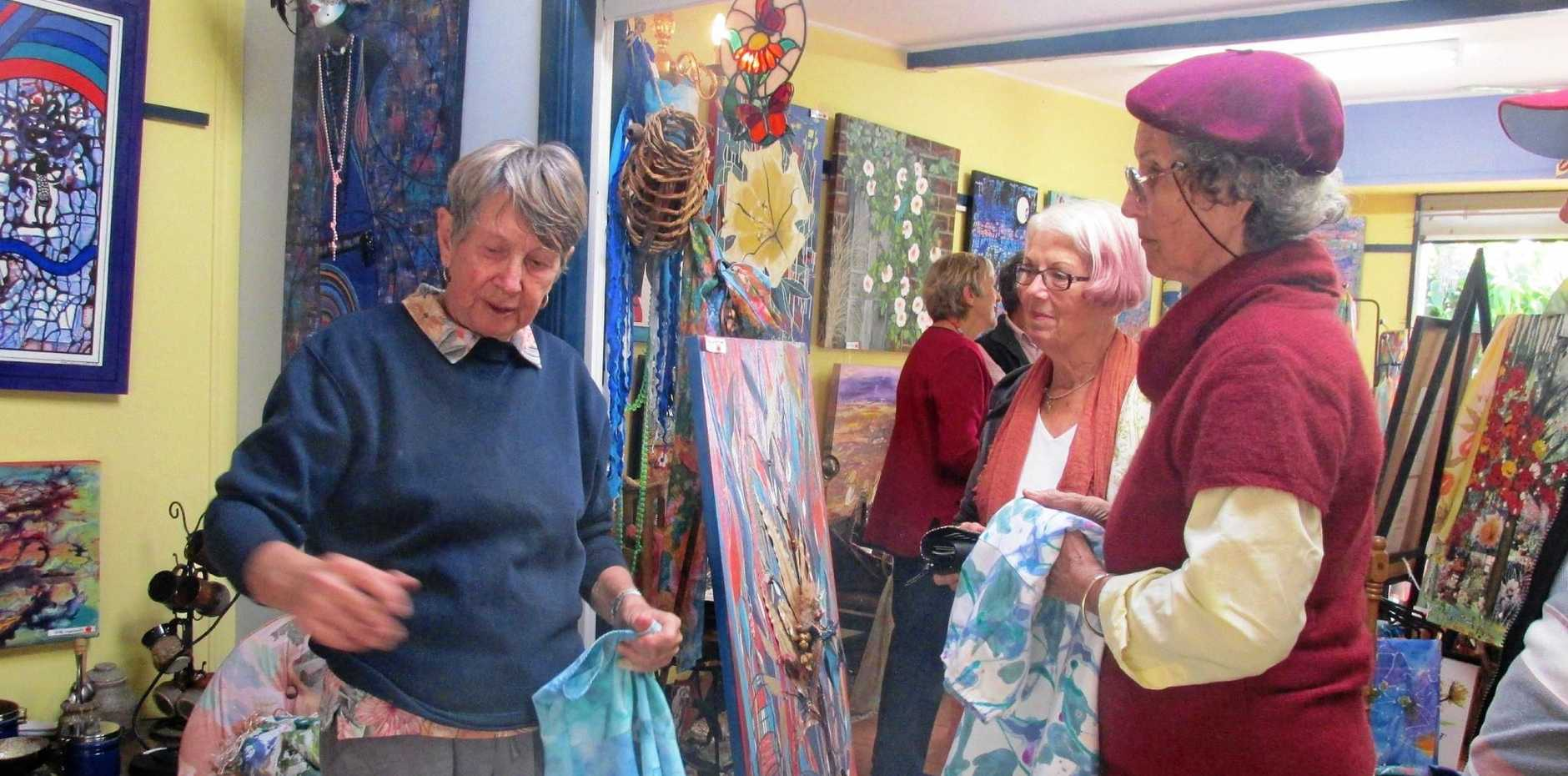 STUDIO TRAIL: The Tin Can Bay art gallery featuring the Cooloola Coast Art Group was one of the studios which welcomed visitors on the Gympie Region Studio Trails in 2016. Local artists are invited to be a part of the Gympie Region Studio Trails in 2017.