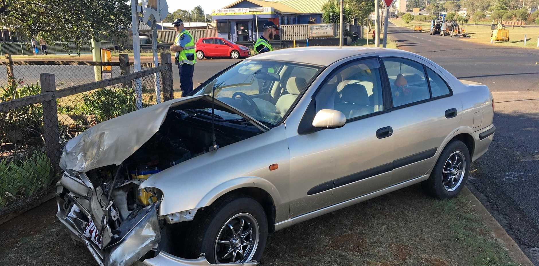 THE crash occurred at around 3.45pm.