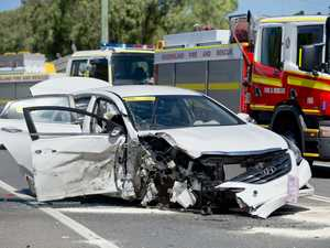 BREAKING: 'Significant damage' as car and truck collide