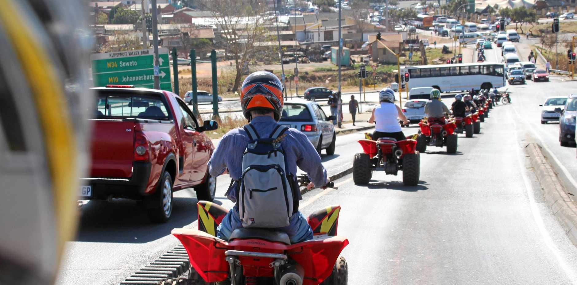 A quad bike tour through the streets of Soweto.