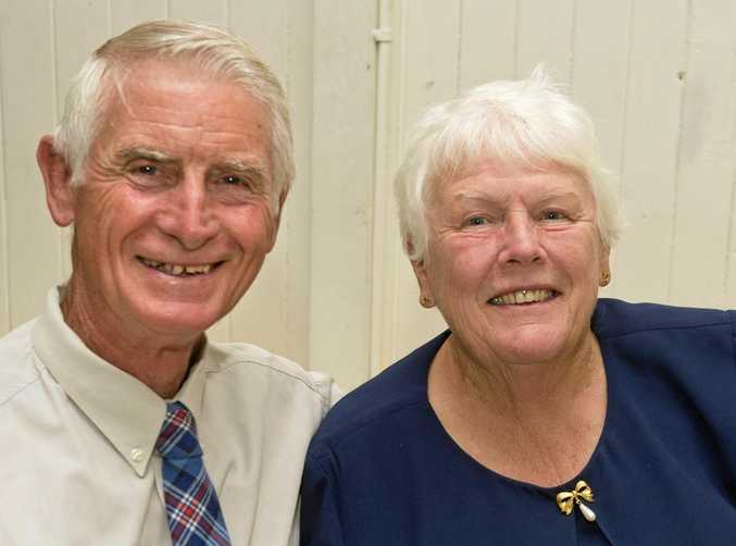 Ron and Sandra Hass attend the annual dinner.