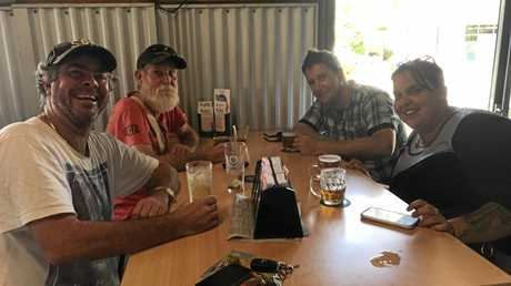 Jimmy Harris, Mikie Wind, Courtney Geaghan and Daniel Bell could almost call every pub in Mackay by a nickname.