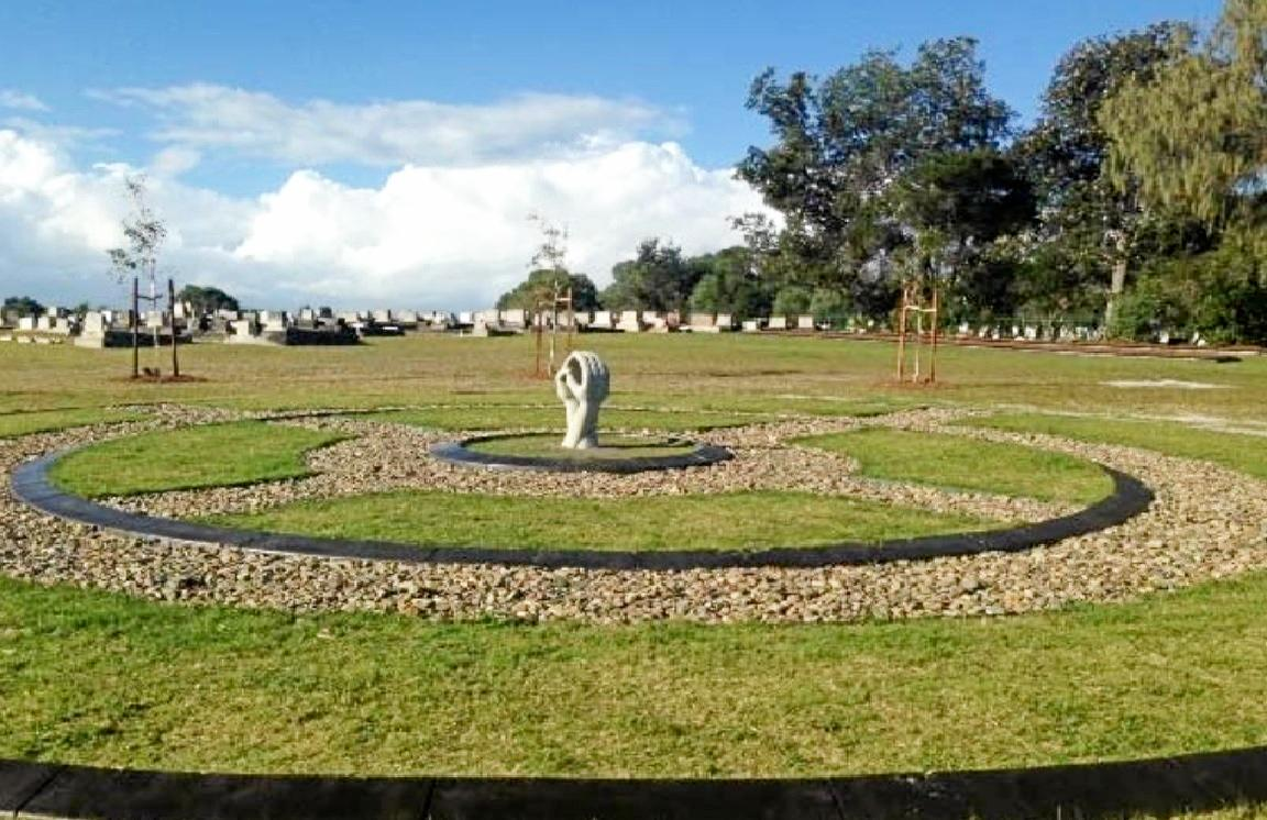 The new Circle of Life infant burial site at Evans Head Cemetery.