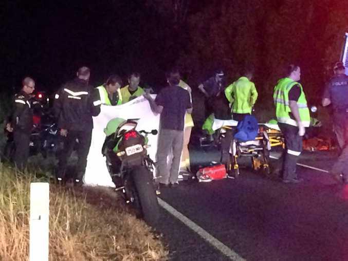 Motorbike crash near the corner of Rubyanna Rd and Strathdee Rd Burnett heads.
