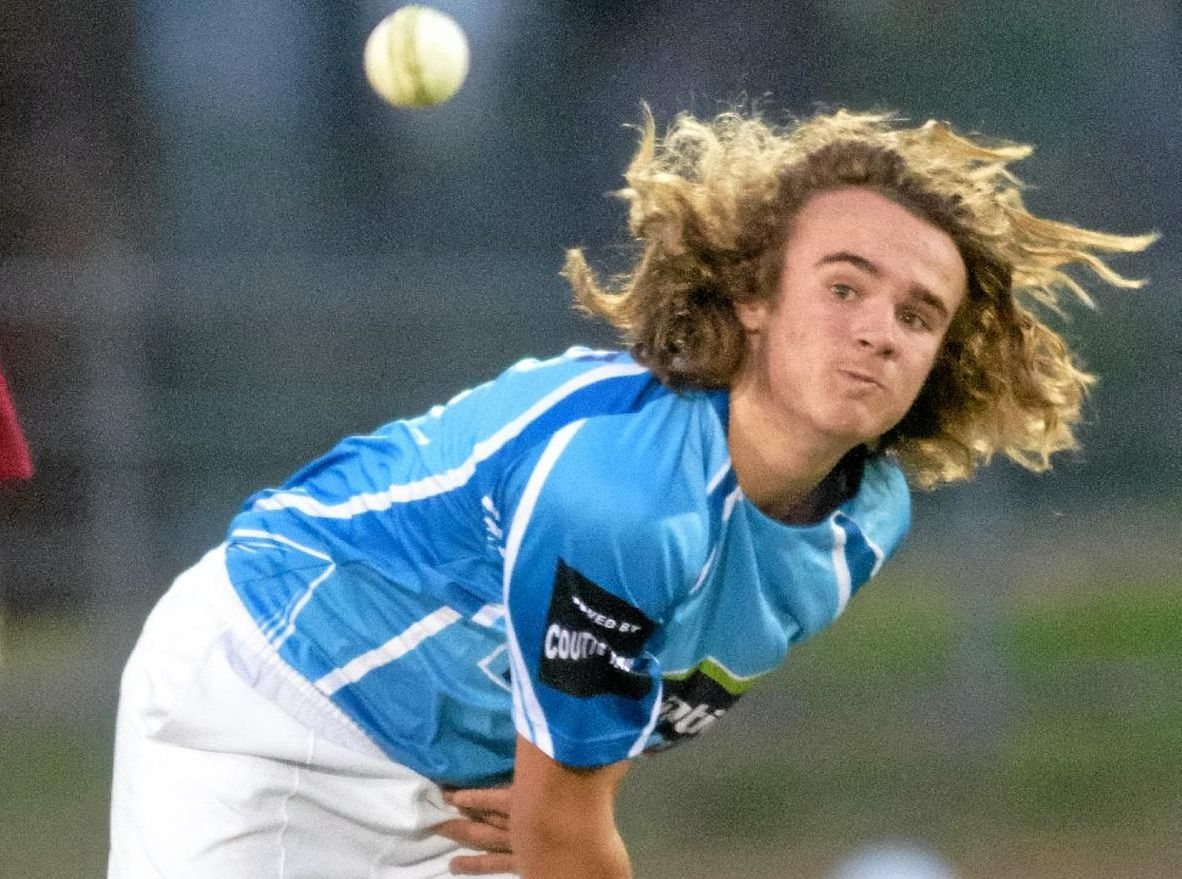 MAN OF THE MOMENT: Eli Fahey took a five-for in Coutts Crossing's night cricket win.