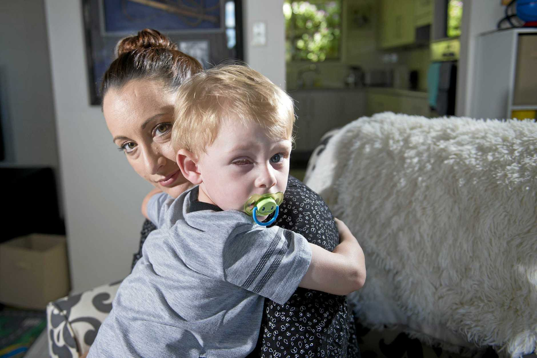 Lara Stokes' son Jack, 2, has had his right eye removed because he was diagnosed with retinoblastoma.