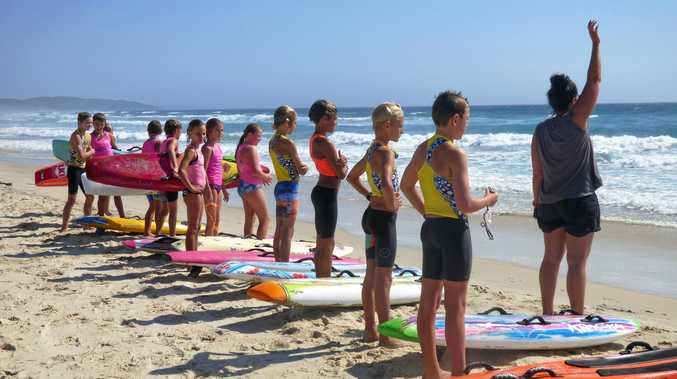 PERFECT PREPARATION: Trainer Laurel Moston puts an eager bunch of Lennox Head nippers through their paces.