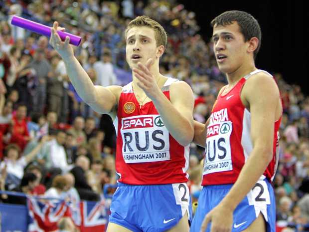 Maxim Dyldin (right) is one Russian athlete who is determined to keep his Olympic bronze medal.