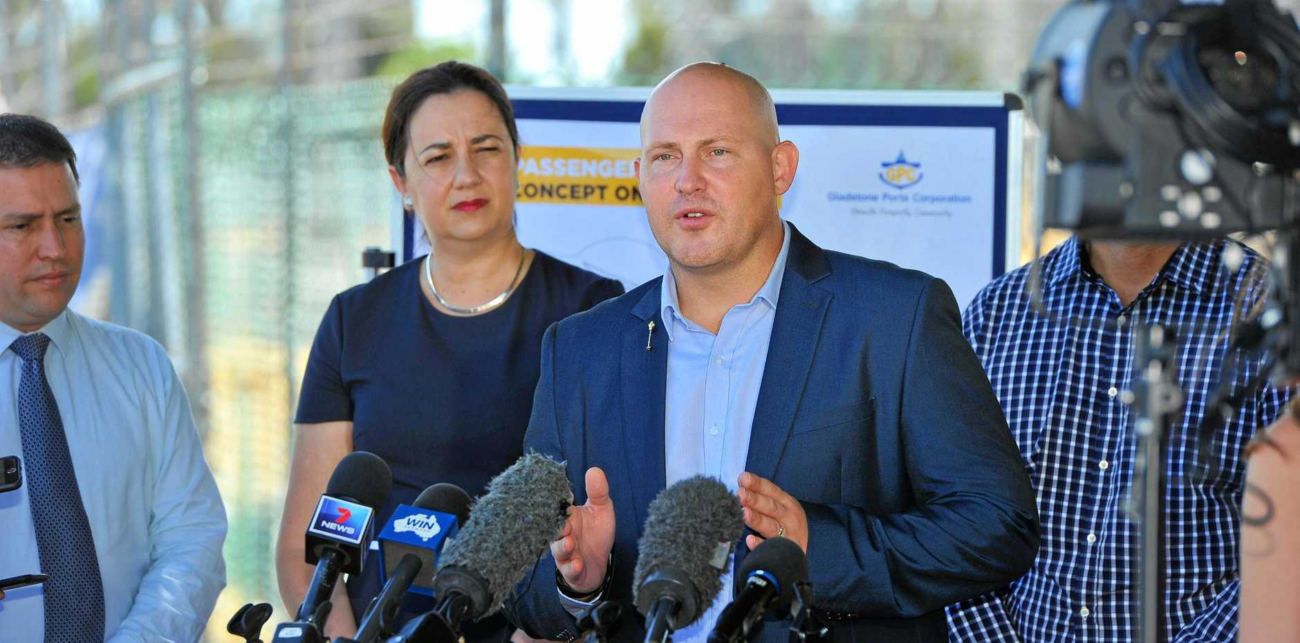 Queensland Treasurer Curtis Pitt was in Gladstone on Thursday along with Premier Annastacia Palaszczuk to announce funding for Stage 1B of the East Shores development.