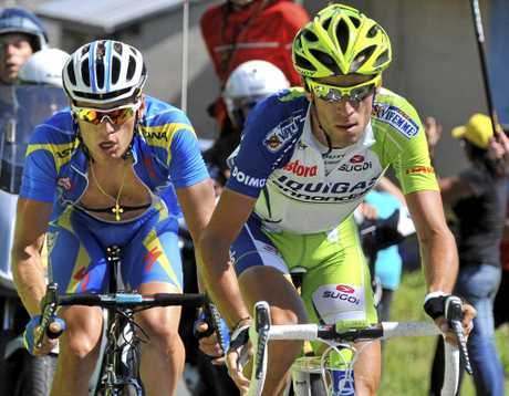 Andriy Grivko (left) will take no further part in the Dubai Tour.