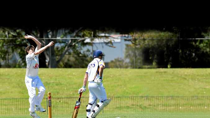 LEFT: Tintenbar-East Ballina bowler Steve Leahy in action in a game against Marist Brothers at Oakes Oval.