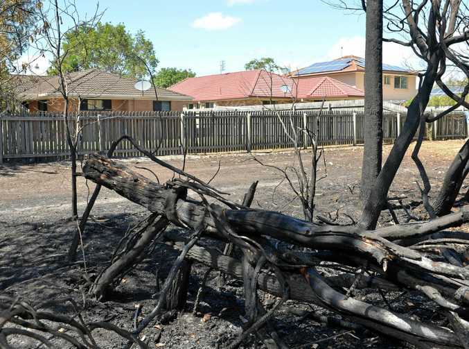 FIRE RISK: Sippy Downs residents were evacuated last week when a fire broke out in scrub near Statesman Cct.