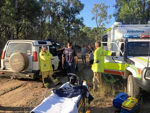 Woman airlifted after 4WD rolls onto her leg