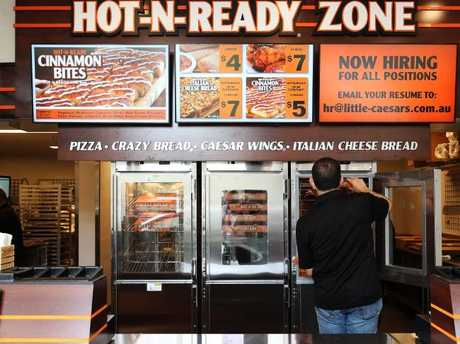 Little Caesars Pizza currently has four stores in Australia, with the goal of reaching at least 400.Source:News Corp Australia