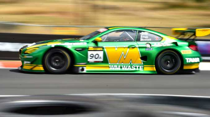 LEADER: Chaz Mostert fastest in Castrol MARC Cars Australia BMW M6 GT3 at Qualifying One at the 2017 Bathurst 12 Hour.