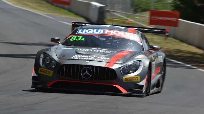 Mercedes-AMG GT3 during Bathurst 12 Hour qualifying.