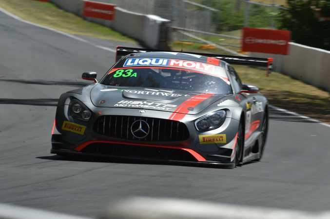 Mercedes-AMG GT3 during Bathurst 12 Hour qualifying.