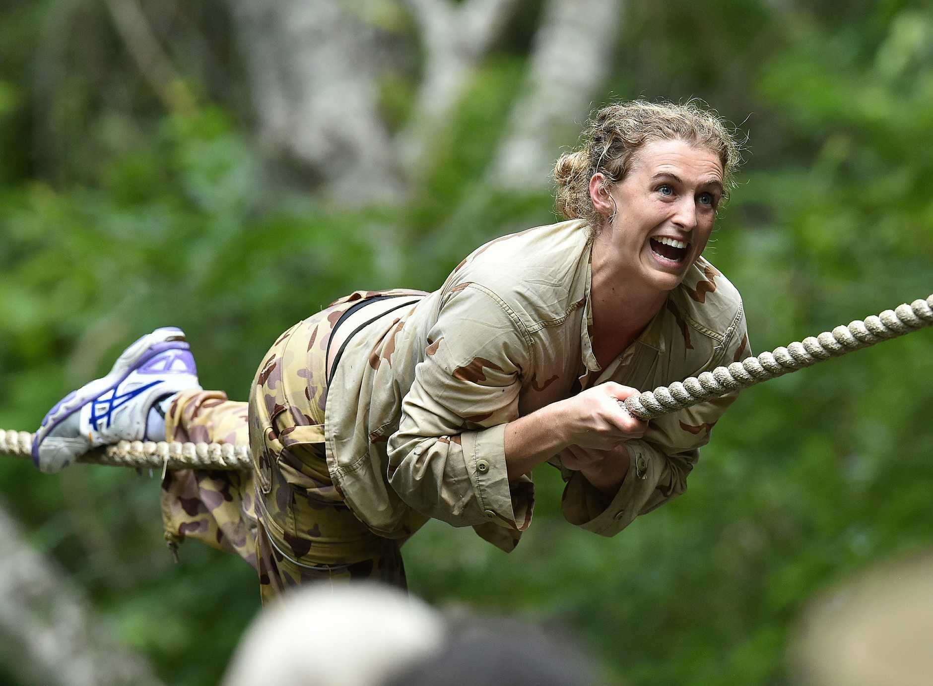 Gabi Simpson at the Kokoda Barrack. Photo: NIGEL HALLETT