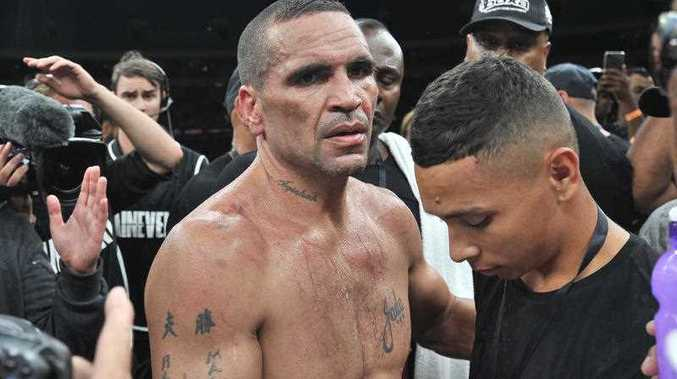 Anthony Mundine after the Boxing fight night between Anthony Mundine and Danny Green at the Adelaide Oval in Adelaide, Friday, Feb. 3, 2017.