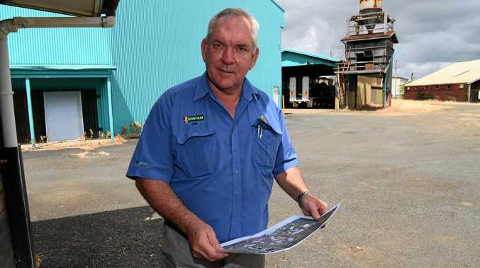 Sunfam's Ian Loeskow with plans to expand at the site of the old mill in East Bundaberg.