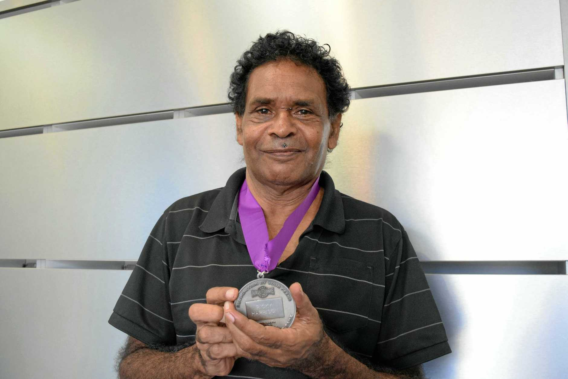 MUSIC LEGEND: Ricky Harrison of No Fixed Address with his South Australian Music Hall of Fame medal. The band is reforming and set to tour Australia this year.