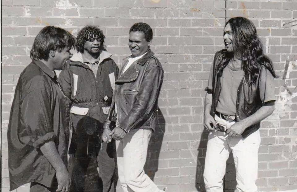 BACK IN THE DAY: John Miller, Bart Willoughby, Ricky Harrison and Les Graham Kelly in the early days of No Fixed Address.