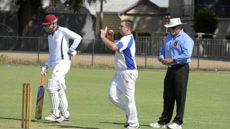 Harwood bowler Luke Many during the CRCA match against Easts at Lower Fisher Park on Saturday 4th February, 2017.
