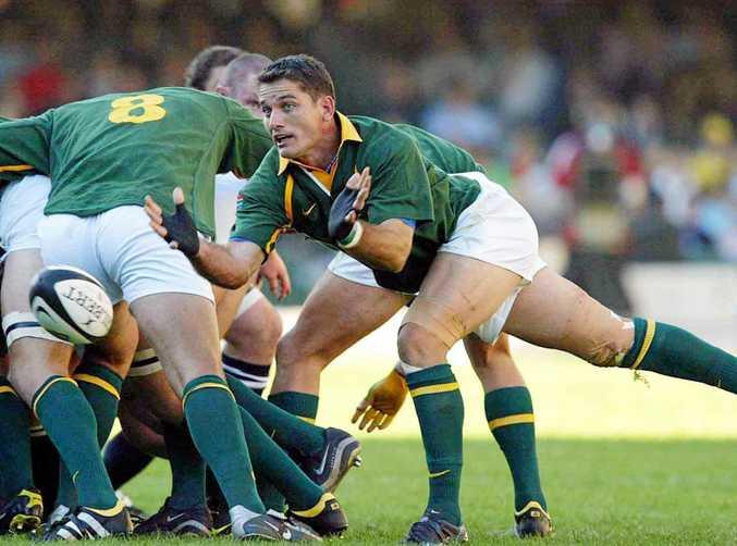 Joost Van Der Westhuizen in action for South Africa.