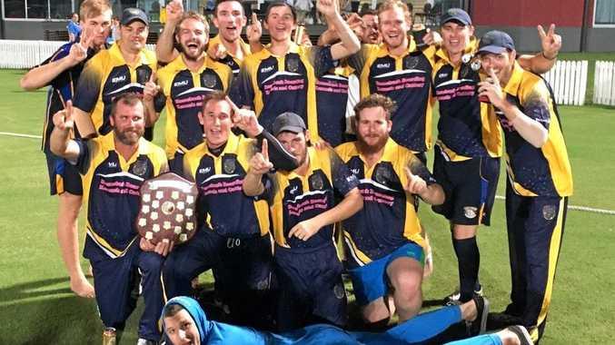 CELEBRATIONS: Winners of the Daily Mercury T20 Shootout grand final - Souths A-Grade team.
