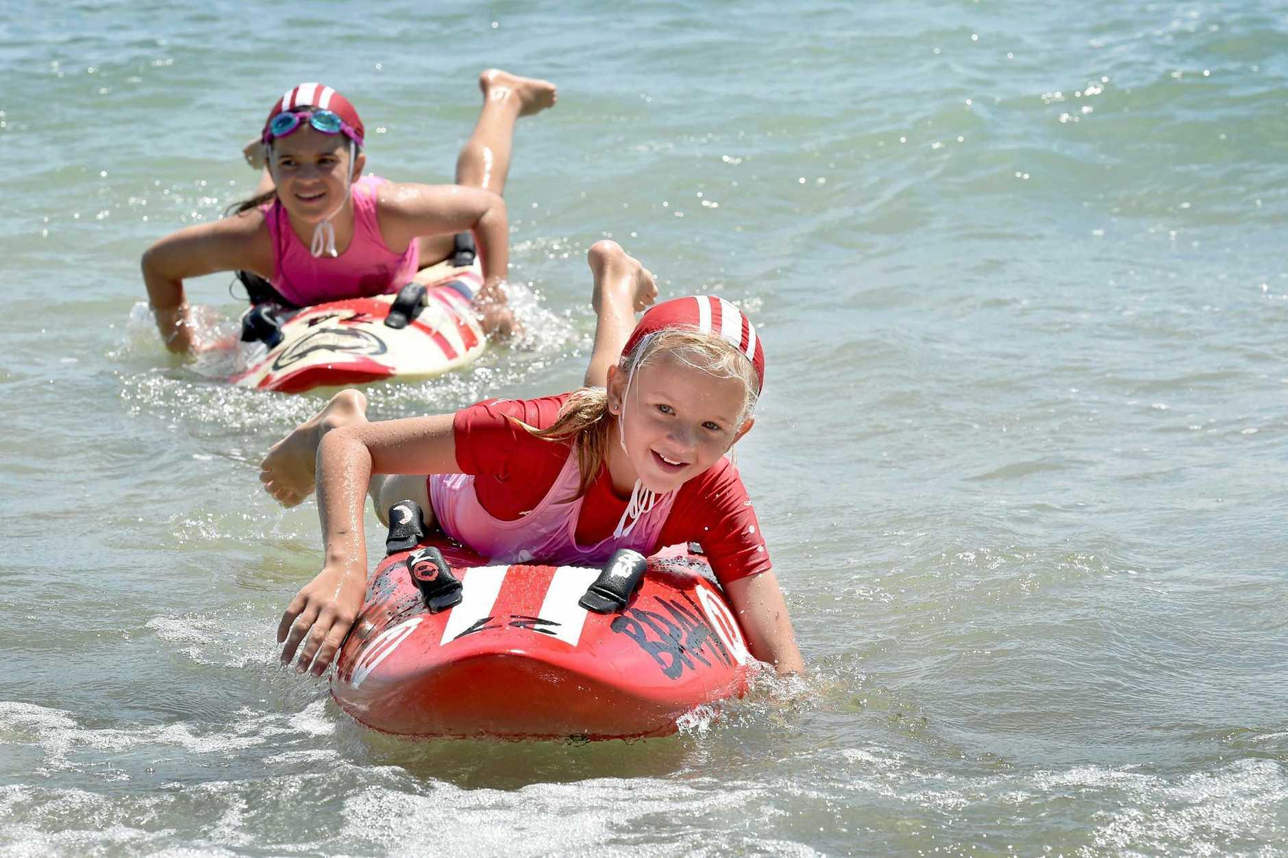 Hervey Bay Surf Lifesaving Club nippers - Under 11 Bella Thom.