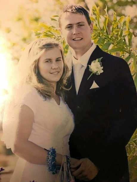 LEFT: Lacey and Brenton Bradford on their wedding day.