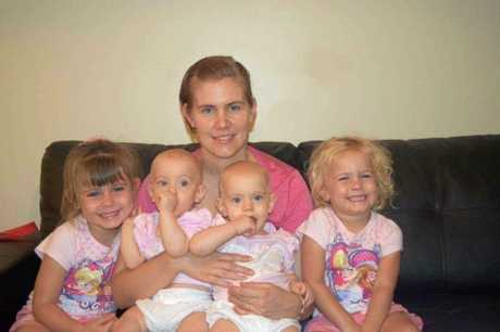 Lacey Bradford with her daughters.