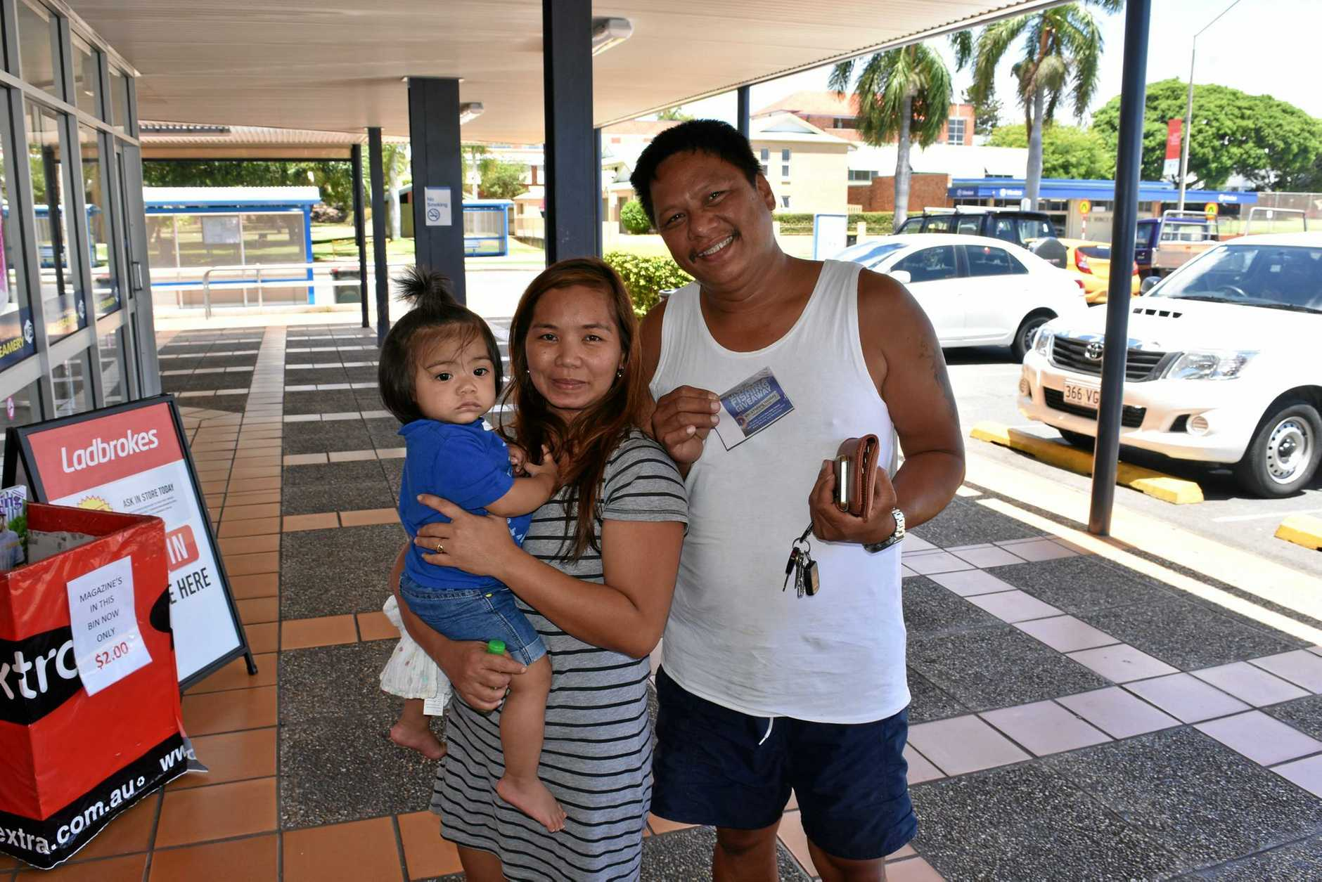 Freddie Rodriguez with his wife Marivic and son Roshvan, 1, are excited to get their free lure with The Observer.