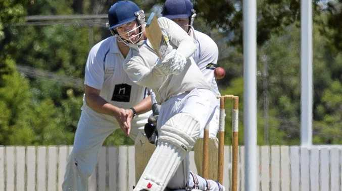 CLEAN HIT: Zac Beveridge bats for Wests on day one last weekend.