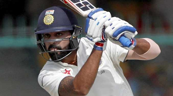 India's Murali Vijay plays a shot.