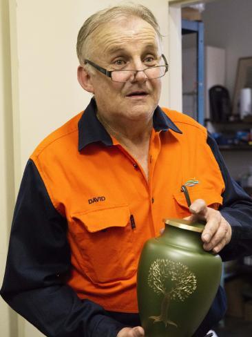 Crematorium operator David Bennett.