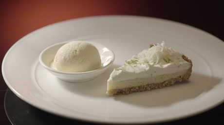 Tim created the dessert of key lime pie and vanilla ice cream which was their meal's lowest point.